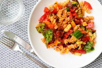 15 min vegan pastasalade